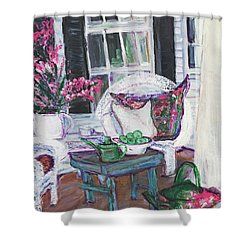 Afternoon At Emmaline's Front Porch Shower Curtain