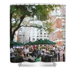 Afternoon At Faneuil Hall Shower Curtain