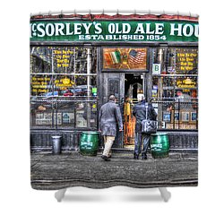 Afternoon At Mcsorley's Shower Curtain by Randy Aveille
