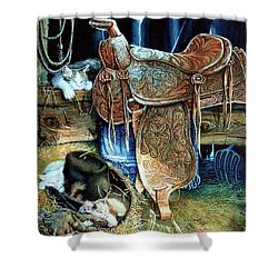 Shower Curtain featuring the painting Afternoon Delight by Hanne Lore Koehler