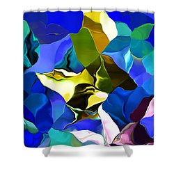 Afternoon Doodle 020215 Shower Curtain by David Lane