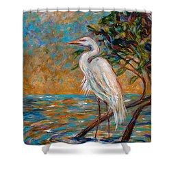 Afternoon Egret Shower Curtain