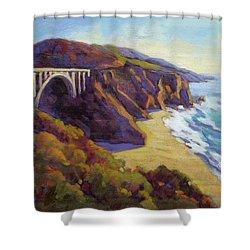 Afternoon Glow 3 Big Sur Shower Curtain