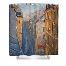 Afternoon In Rue Leopold Bellan Shower Curtain by NatikArt Creations