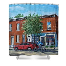 Afternoon Ride Pointe St Charles Shower Curtain by Reb Frost