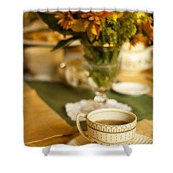 Afternoon Tea Time Shower Curtain by Andrew Soundarajan