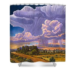 Shower Curtain featuring the painting Afternoon Thunder by Art James West