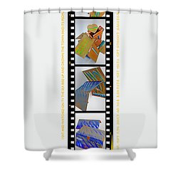 Aftershocking Shower Curtain by Charles Stuart