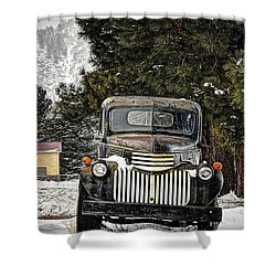Afther The Snow Falls Verticle Shower Curtain by Ken Smith