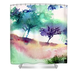 Against Light 1 Shower Curtain by Anil Nene