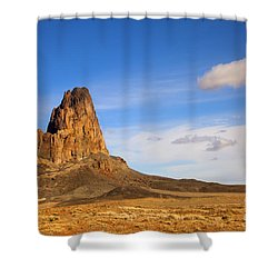 Agathia Peak Shower Curtain by Mike  Dawson