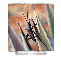 Agave Bug  Shower Curtain by Tom Janca