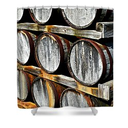 Aged Wine Shower Curtain by Frozen in Time Fine Art Photography