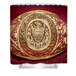 Aggie Ring Shower Curtain by David Morefield