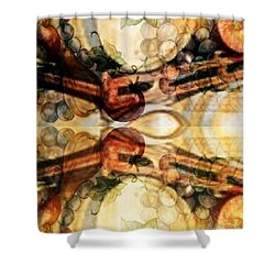 Aging Barrels Shower Curtain by PainterArtist FIN