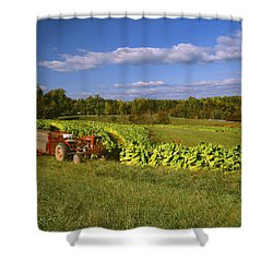 Agriculture - Fields Of Maturing Flue Shower Curtain by R. Hamilton Smith