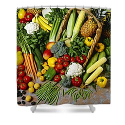 Agriculture - Mixed Fruit Shower Curtain