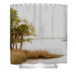 Aground At The Marsh Shower Curtain