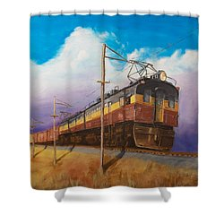 Ahead Of The Weather Shower Curtain by Christopher Jenkins