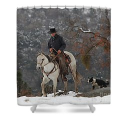 Ahwahnee Cowboy Shower Curtain by Diane Bohna