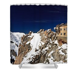 Shower Curtain featuring the photograph Aiguille Du Midi -  Mont Blanc Massif by Antonio Scarpi
