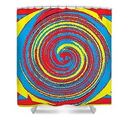 Aimee Boo Swirled Shower Curtain by Catherine Lott
