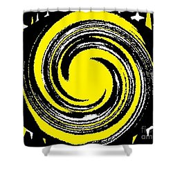 Aimee Starry Night Shower Curtain by Catherine Lott