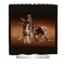 Aiming To Win Shower Curtain by Hugh Blanding