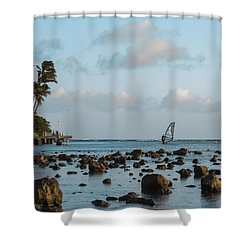 Aina Haina Windsurfer 1 Shower Curtain