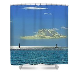 Shower Curtain featuring the photograph Air Beautiful Beauty Blue Calm Cloud Cloudy Day by Paul Fearn