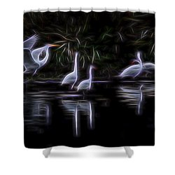 Air Elementals 3 Shower Curtain