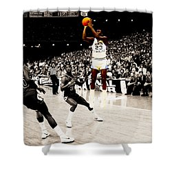 Air Jordan Unc Last Shot Shower Curtain