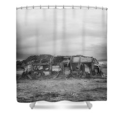 Air Stream Cannibalized Shower Curtain by Hugh Smith