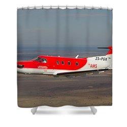 Air To Air Pc 12 Shower Curtain by Paul Job