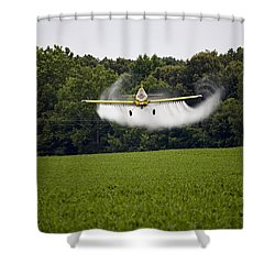 Air Tractor Shower Curtain