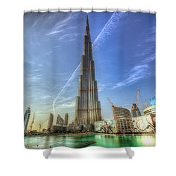 Air Trail Shower Curtain