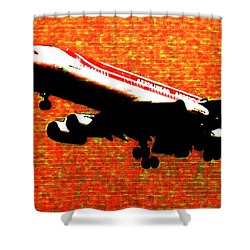 Airbus 340 Shower Curtain by Marcello Cicchini
