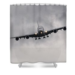 Airbus A380 Shower Curtain