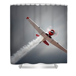 Aircraft In Flight Shower Curtain