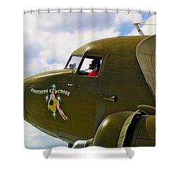 Airplane Named Southern Crosss Shower Curtain