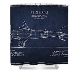 Airplane Patent Drawing From 1918 Shower Curtain by Aged Pixel