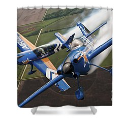 Airplanes Perform At The Sound Of Speed Shower Curtain by Stocktrek Images