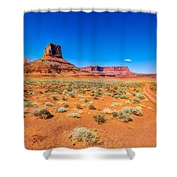 Airport Tower I Shower Curtain by Chad Dutson