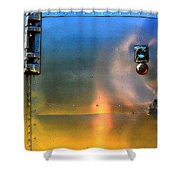 Airstream Sunset Shower Curtain by Newel Hunter
