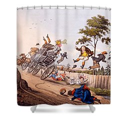 Airy Nothings, Or Scraps And Naughts Shower Curtain by M. Egerton