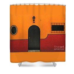 Ajijic Door No.4 Shower Curtain