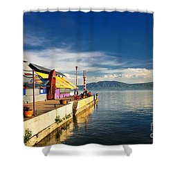 Ajijic Pier - Lake Chapala - Mexico Shower Curtain