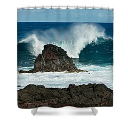 Akahanga Wave 2 Shower Curtain