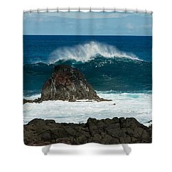 Akahange Wave Shower Curtain
