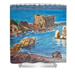 Akamas Paphos Shower Curtain by Augusta Stylianou